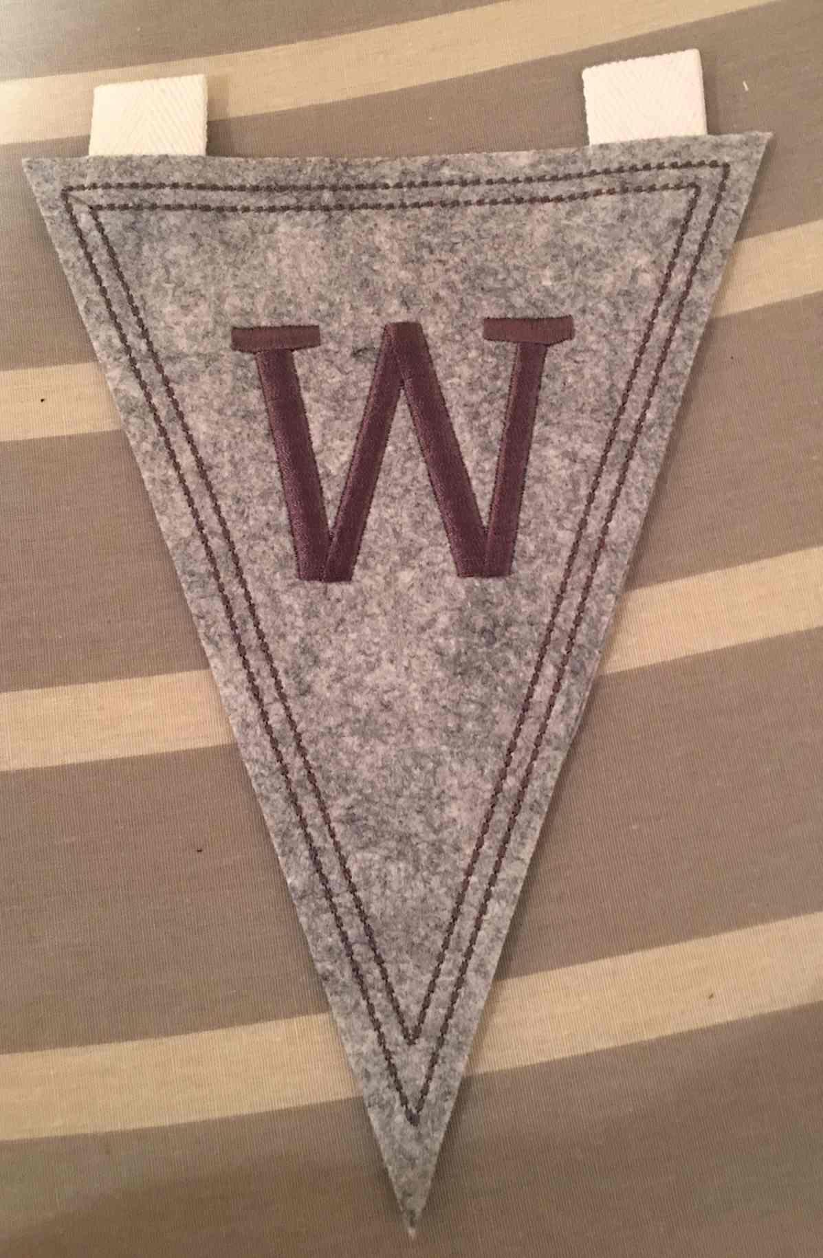 Single pennant banner letter